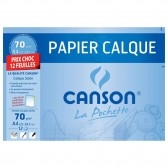 CANSON Tracing Papier 12 Blätter 24x32cm 70g