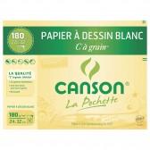 Papier dessin Blanc C à Grain CANSON 12 feuilles 24x32cm 180g