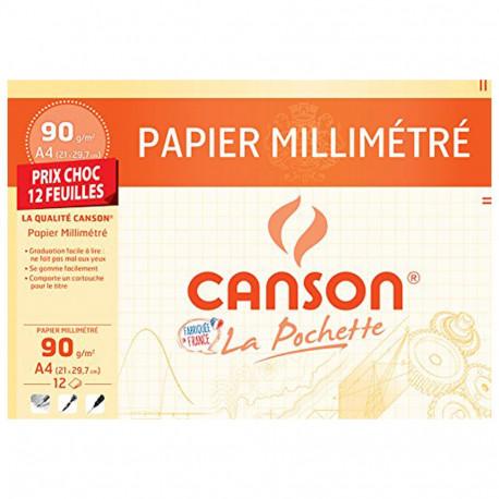 Carta tracciatura CANSON 12 fogli A4 70g