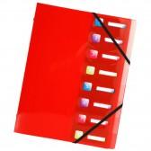Clasificador de polipropileno 3 flaps 8 compartimientos