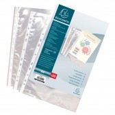 Sachet 100 pochettes perforées A4 polypropylène Grainé 4/10