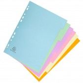 A4 6-position pastel-coloured high card interlayers