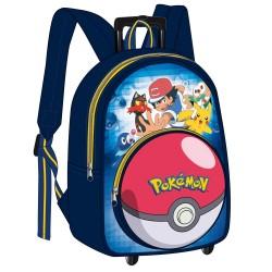 Sac à dos à roulettes Pokemon Sacha 38 CM - Haut de gamme