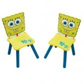 Gedekte tafel + 2 stoelen Sponge Bob