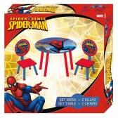 Gedekte tafel + 2 stoelen Spiderman