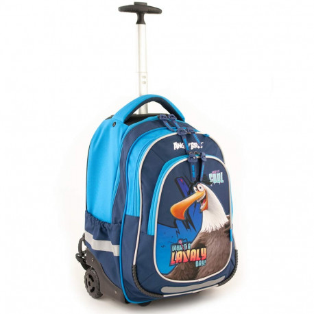 Mochila con ruedas Angry Birds 43 CM - Trolley escolar