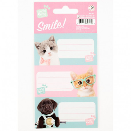 Lot de 9 étiquettes Studio Pets