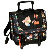 Black Emoji 38 CM Top Of Range Wheeled Bag