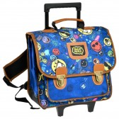Cartable à roulettes Smiley World 38 CM Haut de Gamme
