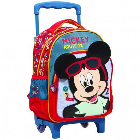 économiser 1c453 a6ab4 Sac à roulettes Mickey Roadtrip 30 CM - Cartable maternelle