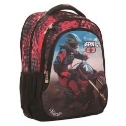 No Fear Rosso Motocross 45 CM zaino - 2 Cpt