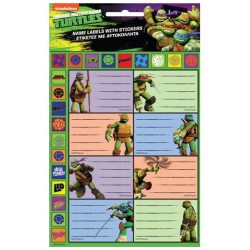 Lote de 8 Etiquetas de Tortuga Ninja