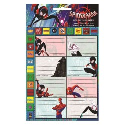 Lot de 8 étiquettes Spiderman
