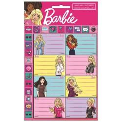 Un sacco di 8 etichette Barbie