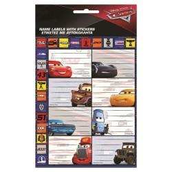 Lote de etiquetas de 16 coches