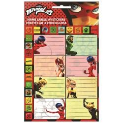 Lote de 8 etiquetas Ladybug Miraculous