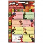 Lot de 8 étiquettes Ladybug Miraculous