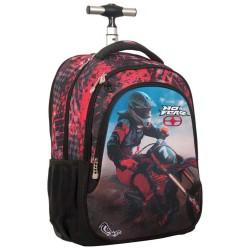 No Fear Red Motocross 48 CM Wheelie tas - Cartable
