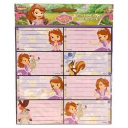 Heleboel 16 Prinses Sofia etiketten