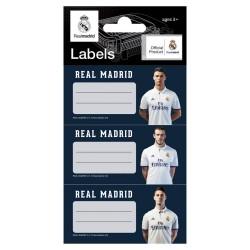 Lote de 9 etiquetas del Real Madrid