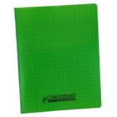 Cahier Polypro 17x22 CONQUERANT Grands carreaux SEYES 60p