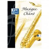 Cahier de musique OXFORD 17x22 Grands carreaux SEYES 48p