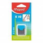 Pack of 12 mines HB 0.5mm MAPED Black'Peps