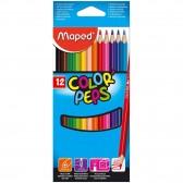 Pochette de 12 crayons de couleur MAPED Color'Peps