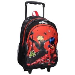 Sac à dos à roulettes Ladybug Miraculous Trust Yourself 43 CM Haut de gamme Trolley - Cartable