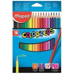 Pochette de 18 crayons de couleur MAPED Color'Peps