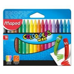 Pochette de 18 crayons de couleurs cire MAPED Color'Peps