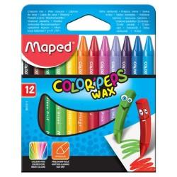 Bolsillo de 12 crayones de color MAPED Color'Peps