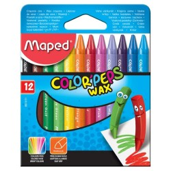 Pochette de 12 crayons de couleurs cire MAPED Color'Peps