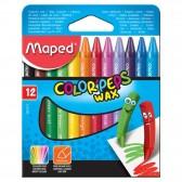 Pochette de 12 crayons de couleurs cire MAPED Color'Peps