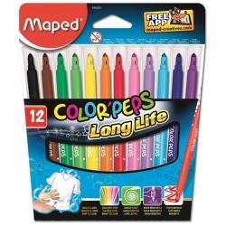 MAPED Color'Peps 12 felt pouch - Long Life