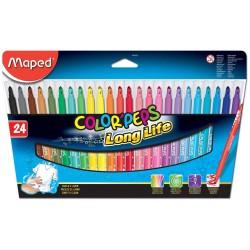 Pochette de 24 feutres MAPED Color'Peps - Long Life