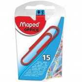 Box of 100 letter attachments MAPED 25 mm color