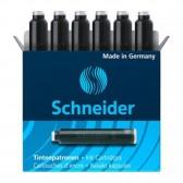 Boîte de 6 cartouches d'encre noire pour stylo plume - SCHNEIDER