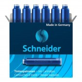 Box of 6 black ink cartridges for pen - SCHNEIDER