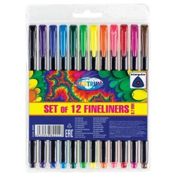 Lot of 12 fine markers 0.7mm