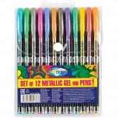 Lot de 12 stylos métallique à encre gel