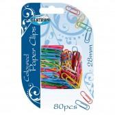 Heleboel 80 gekleurde paperclips 28mm