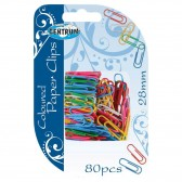 Lot of 80 colored paper clips 28mm