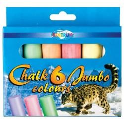 Boîte de 6 craies pour trottoir ronde - Jumbo
