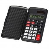 Petite calculatrice primaire noire avec capot en plastique