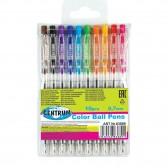 Lot de 10 stylos bille de couleur - Pointe 0,7mm