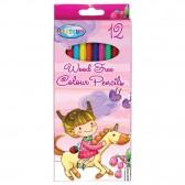 Pochette de 12 crayons de couleur en plastique LICORNE