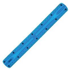 Flexible plastic rule 30 CM - Blue