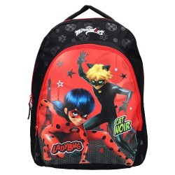 Ladybug Milagrosa Negro 44 CM Mochila - Bolsa