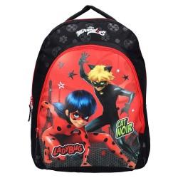 Ladybug Miraculous Black 44 CM Backpack - Bag